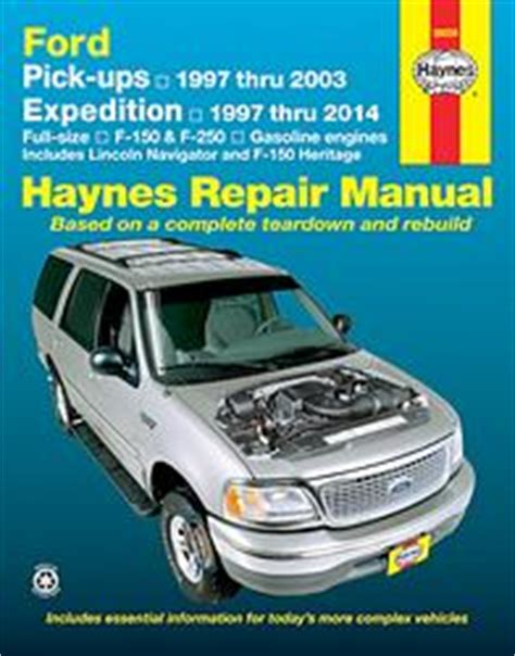 auto repair manual online 1998 ford expedition engine control ford f 150 et f 250 revues techniques haynes et chilton 8