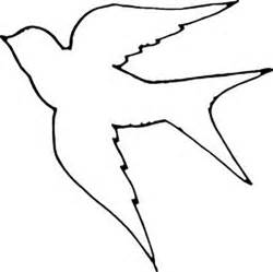 bird cut out template kids coloring