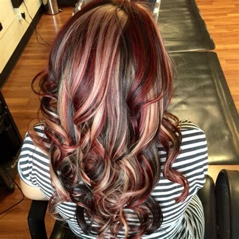charming brown hair  blonde highlights suggestions