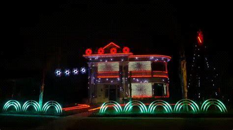 star wars themed christmas lights man builds star wars themed musical holiday light display