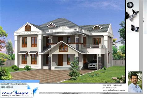 New Home Models And Plans 4bhk 10 16 Keralahouseplanner