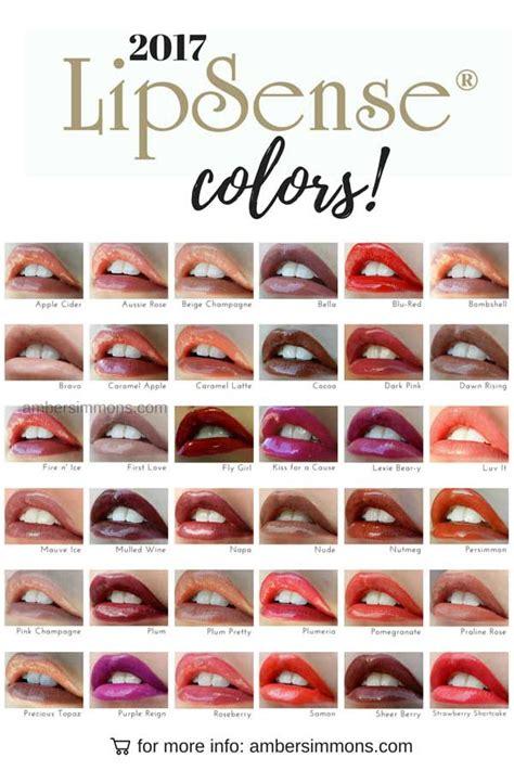 lipsense color chart new 2017 lipsense color chart lip sense and makeup