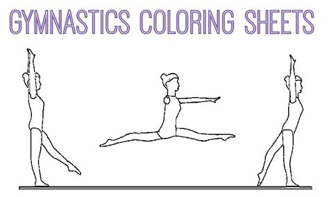 gymnastics positions coloring pages gymnastics coloring pages