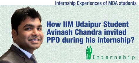 Mba Work Experience Internship by Mba Internship Experience How Iim Student Avinash