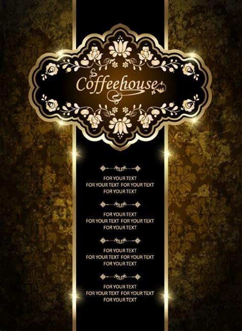 Menu Design Eps | vintage golden coffee house menu design vector 01 vector