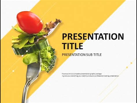 Diet Animated Ppt Template Youtube Vegetarian Presentation Template