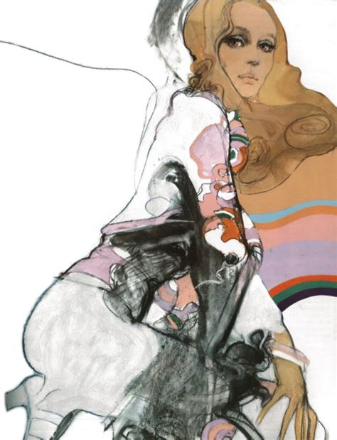 70s Sketches by Seventies Fashion Illustration For Vogue 1970s