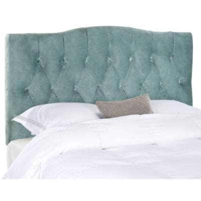 expanded queen headboard safavieh axel queen tufted headboard in wedgwood blue
