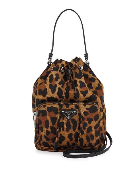 Johnny Rosie Jacquard Print Bag by Prada Tessuto Mini Leopard Print Bag Lyst