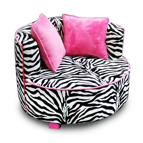 black pink zebra round chair air room dorm kids teen bean bag furnitu