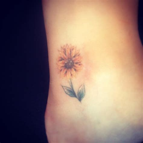 simple sunflower tattoo stylish sunflower sunflower wrist on