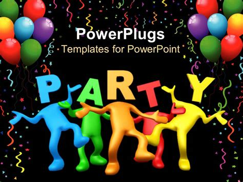 Powerpoint Template Party Celebration Balloons Birthday Celebration Templates