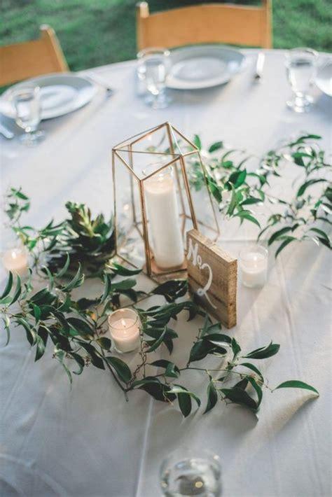 geometric wedding centerpiece ideas  candles