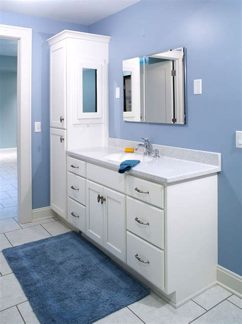 bathroom vanity with attached cabinet vanity