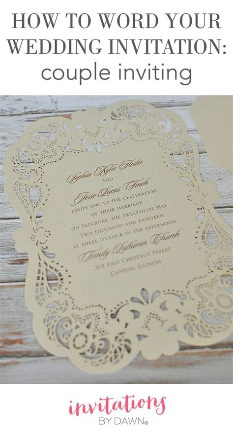 how to word your wedding invitations when you the it paying for and hosting your own