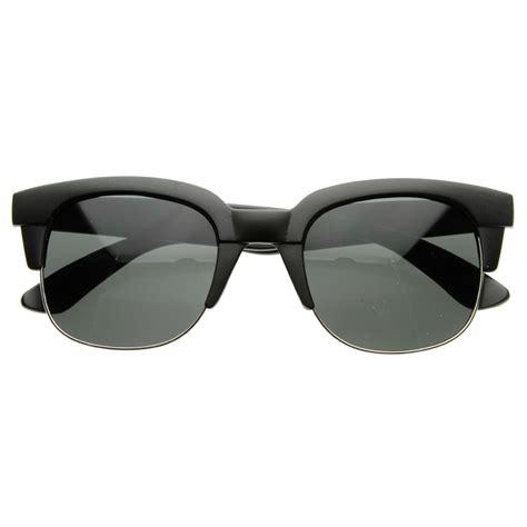 Half Frame Sunglasses square modern fashion half frame retro horn rimmed