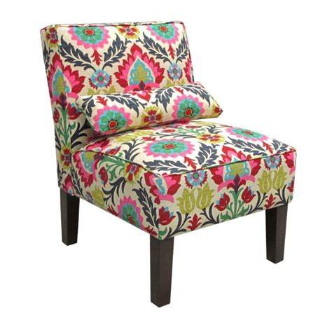 floral accent chair canada skyline furniture upholstered armless chair in santa