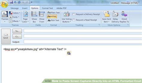 format email html python how to paste screen captures directly into an html