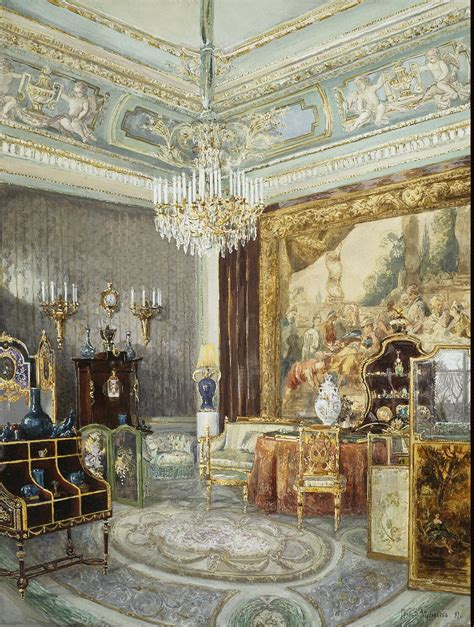palace interiors interior in the anichkov palace painting muravyov v l
