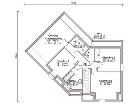 Plan De Salle De Bain 3858 by Construction Maison Individuelle Traditionnelle Izis De 105 M2