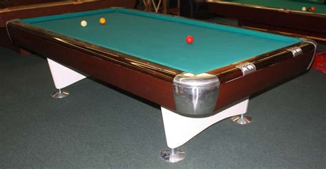 9 foot brunswick anniversary gold crown carom billiard