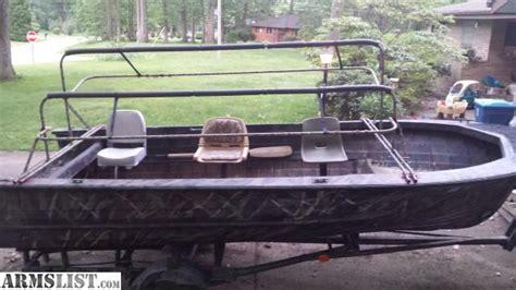 deep v duck hunting boat armslist for sale 16ft deep v duck blind boat