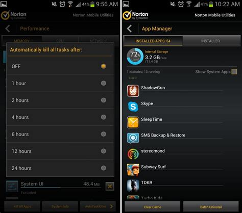 android task killer norton utilities task killer performance boost for your android