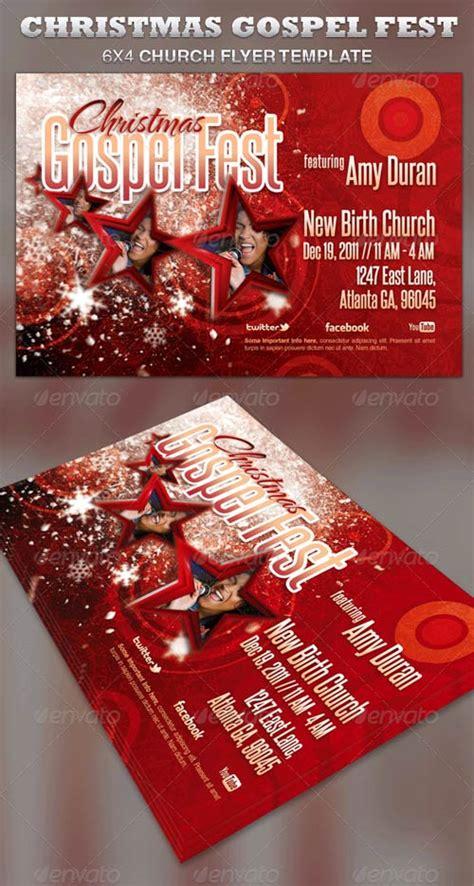 Graphicriver Christmas Gospel Fest Church Flyer Template Avaxhome Gospel Church Flyer Template