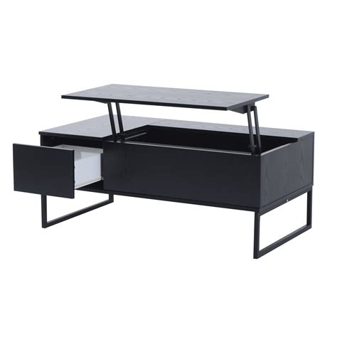 Black Lift Top Coffee Tables Homcom 43 Quot Modern Lift Top Coffee Table Black St S Day