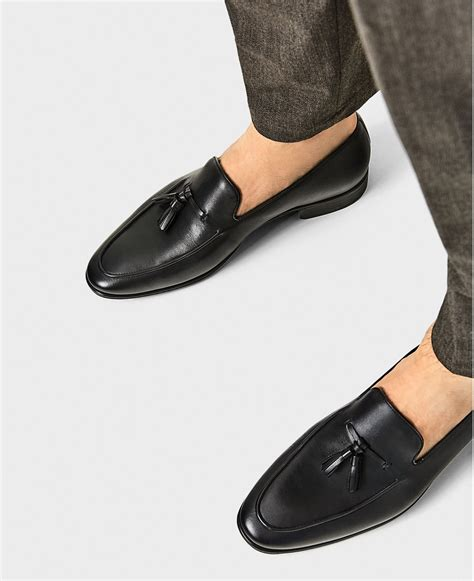 Handmade Mens Leather Shoes - handmade s black tassels moccassins leater shoes mens