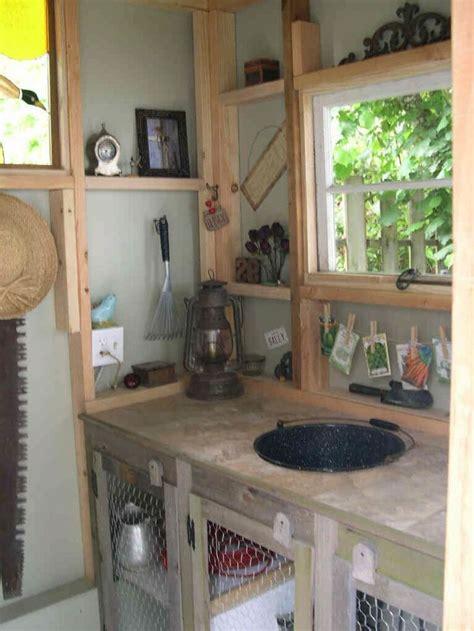 pin  sally kramer   farmhouse shed interior