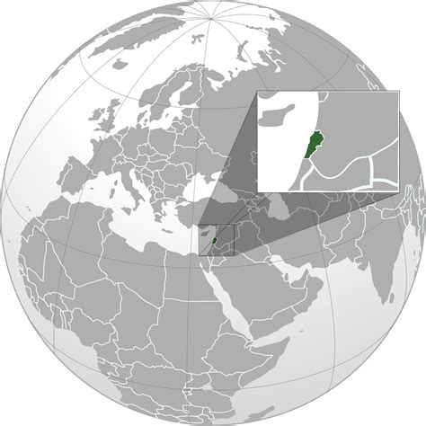 lebanon on the world map location of the lebanon in the world map
