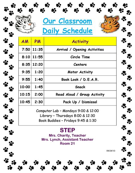 preschool classroom schedule template daily schedule in a preschool classroom calendar june