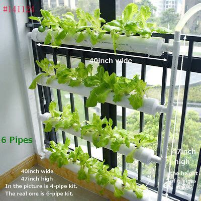 wall mounted  pipe hydroponic  plant site grow set pipe