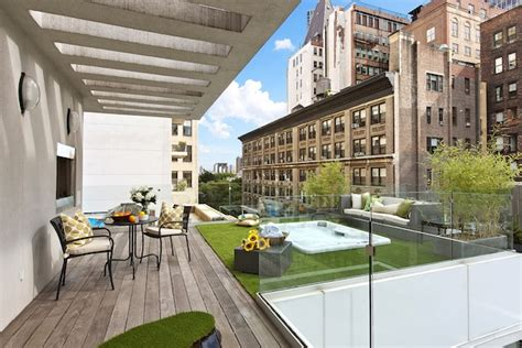 luxury penthouse with terrace and swimming pool for sale in tribeca new york penthouse with gorgeous rooftop terrace
