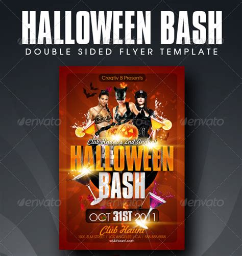 23 Wicked Halloween Psd Flyer Templates Web Graphic Design Bashooka Bash Flyer Template
