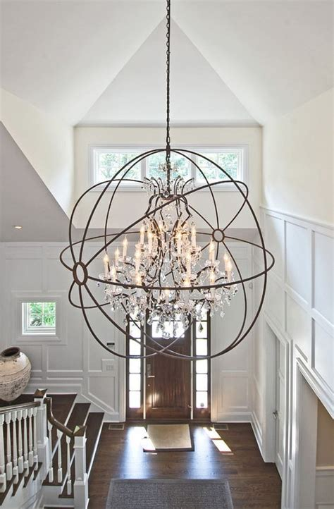 chandelier height 10 foot ceiling how to determine the right height for your foyer chandelier