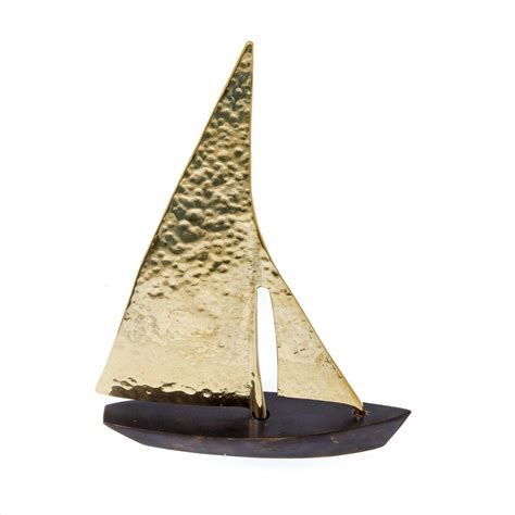 sailing boat handmade metal decorative nautical ornament