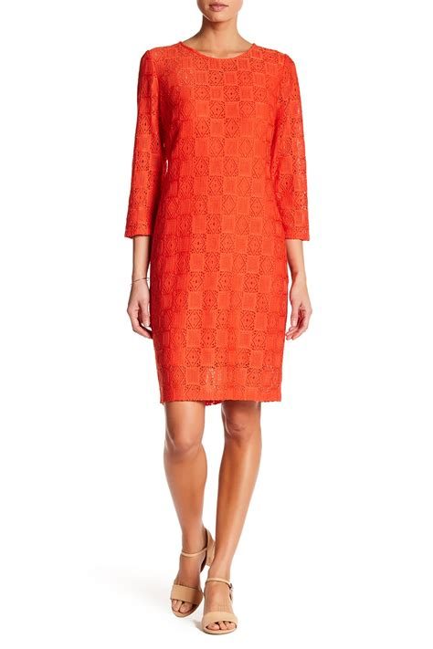 geo patterned jersey dress laundry by shelli segal geo pattern lace sheath dress
