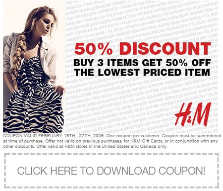 An Hm Offer For All by H M Coupon Codes December 2014