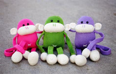 knit stuffed animals knit monkey stuffed animal jerry the amigurumi monkey