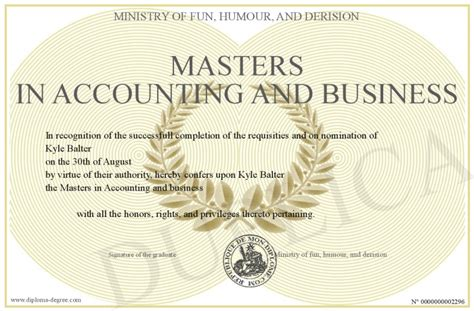 Mba In Accounting Or M Acc by The Gallery For Gt Masters Degree In Business