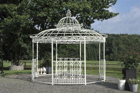 pavillon rund 4m luxus eisenpavillon romantik 216 500cm antik wei 223 garten