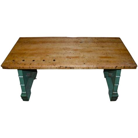 bench press table for sale industrial worktable kitchen island maple top with steel