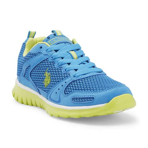 polo running shoes u s polo assn s sprint turquoise lime running