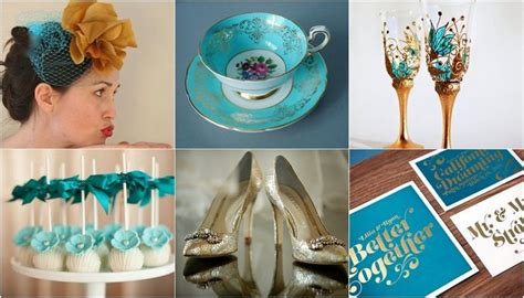 teal turquoise gold wedding theme winter wedding gold wedding theme wedding themes
