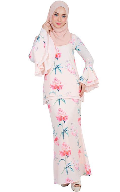 Set Baju Kebaya Nnstarinaglowdusty safiwah modern baju kurung set light salmon baju kurung