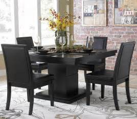 3 piece dining room sets homelegance cicero 3 piece dining room set in black