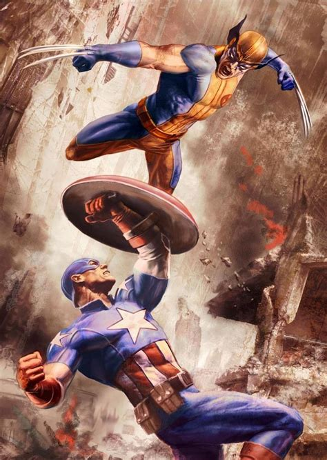 captain america vs wolverine wallpaper 17 best images about comic art marvel heroes on pinterest