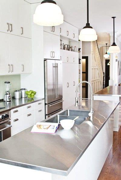 long kitchen island contemporary kitchen palmerston best 25 stainless steel island ideas on pinterest